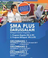 SELEKSI GELOMBANG II SMA PLUS DARUSSALAM TAHUN PELAJARAN 2017/2018