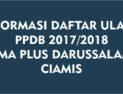 BIAYA DAFTAR ULANG SMA PLUS DARUSSALAM TAHUN PELAJARAN 2017/2018